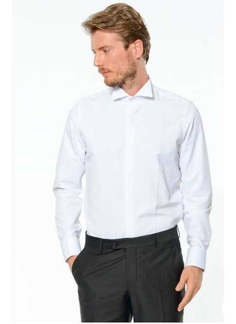 Comienzo Smokin Gömlek Beyaz